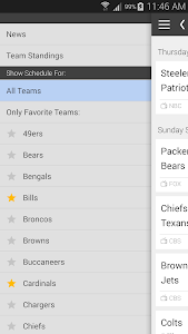 Football NFL Schedules Ad Free screenshot 3