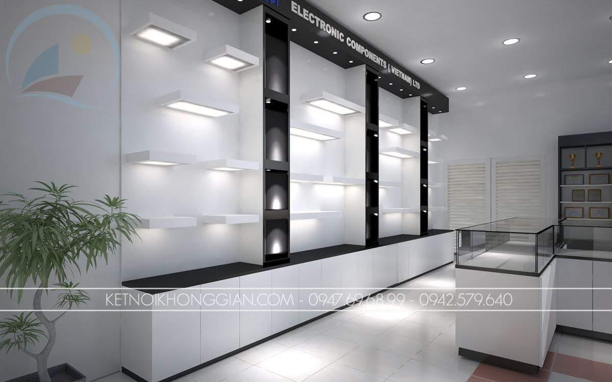 tủ trưng bày thiết bị điện
