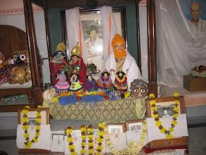Photo: The shrine and altar with Prabhu Jagadbandhu Sundar and the bigrahas of the other associated deities