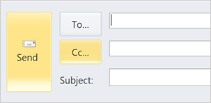2010 send email layout