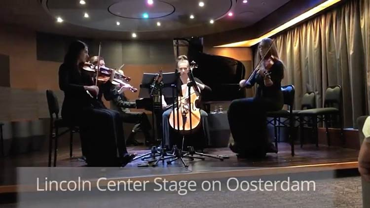 The Lincoln Center Stage quintet performs 14 different programs during a weeklong cruise on ms Oosterdam.
