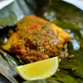 Meen Pollichathu - Fish cooked in banana leaves.