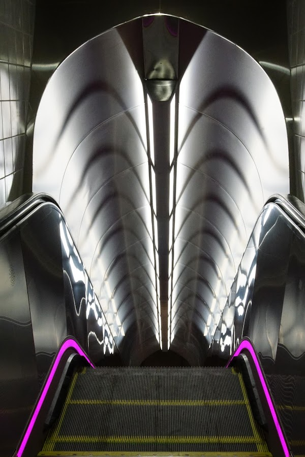 Escalator by VAM Photography - Buildings & Architecture Other Interior ( interior, detail, interior architecture, nyc, places, architecture,  )