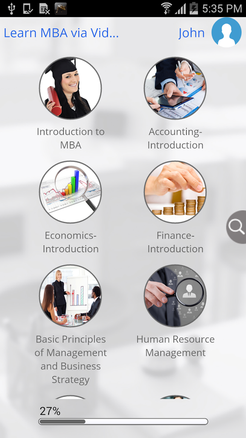 Learn MBA via Videos- screenshot