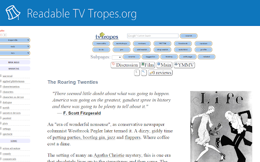 Readable TV Tropes.org