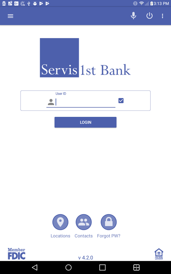 ServisFirst Bank Mobile- screenshot