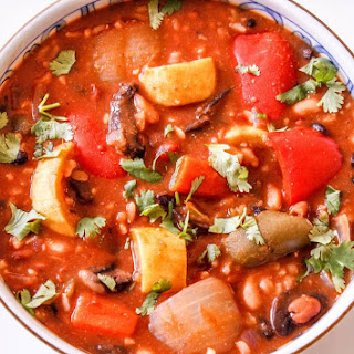 Chunky Vegetable Chili and Rice
