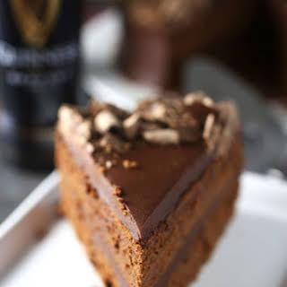 Chocolate Fudge Stout Cake with Chocolate Ganache Frosting.