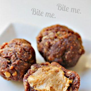 Healthy Peanut Butter-Stuffed Chocolate Date Balls (Vegan; GF and Raw Option).
