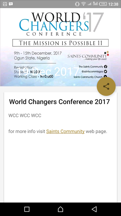 Saints Community Mobile App Plus- screenshot
