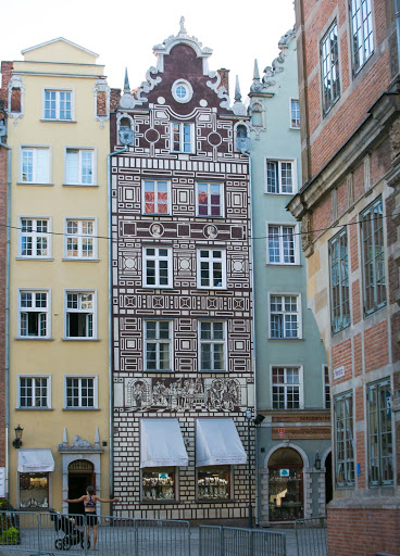 Historic tenement house in Old Gdansk, Poland.