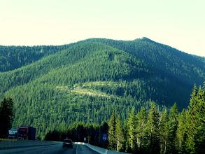 Photo: The road got more mountainous as we headed through the Rocky Mountains