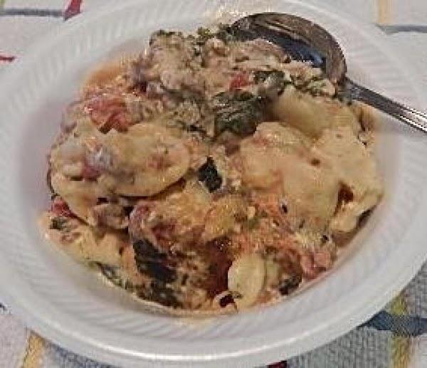 Crock Pot Cheesy Tortellini Recipe
