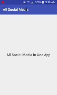 All Social Media In One App - náhled