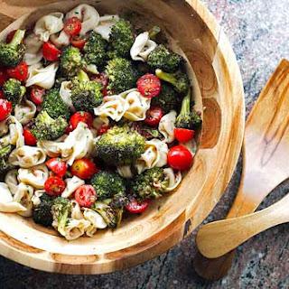 Tortellini Pasta Salad with Roasted Broccoli.