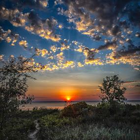 Tawas Bay sunset  by Tammy Scott - Landscapes Sunsets & Sunrises ( landscape photography, nature, sunset, cloudscape, sunsets, landscape )