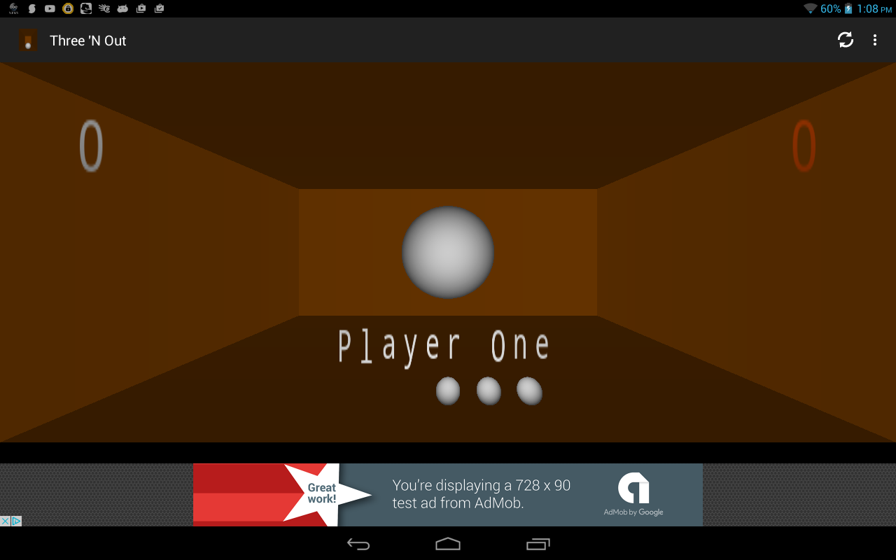 Three 'N Out Pong- screenshot