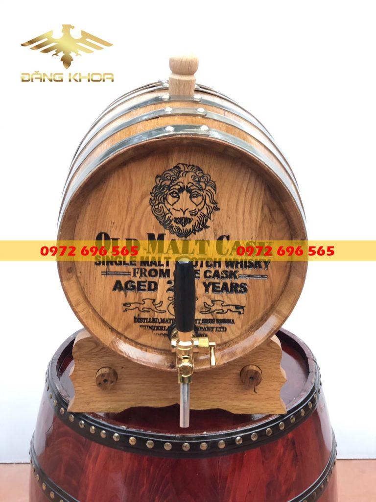 Thùng rượu gỗ sồi đa dạng về mẫu mã, kích thước
