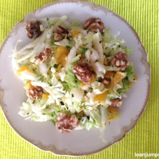 Chinese Cabbage Salad With Oranges And Walnuts.
