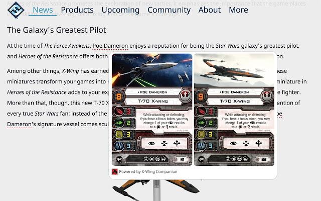 X-Wing Companion Card Viewer