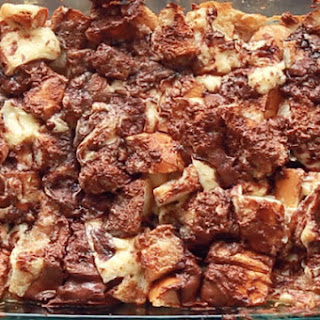 Nutella Cheesecake French Toast Bake
