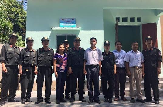 Phòng CSCĐ bàn giao nhà công vụ cho Trường tiểu học xã Yên Hợp