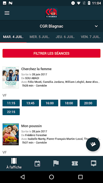 CGR Cinémas Android App Screenshot