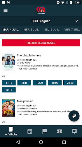 CGR Cinémas Android App Screenshot