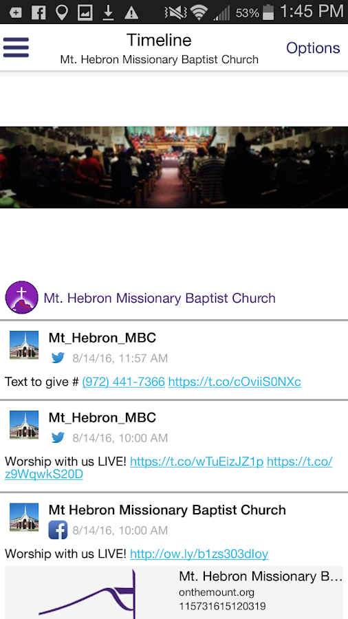 Mount Hebron Church- screenshot
