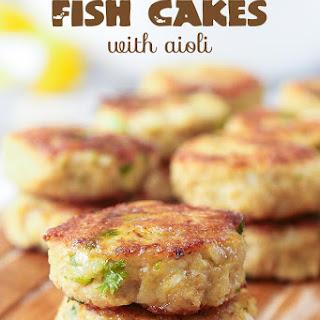 Keto Fish Cakes with Aioli.