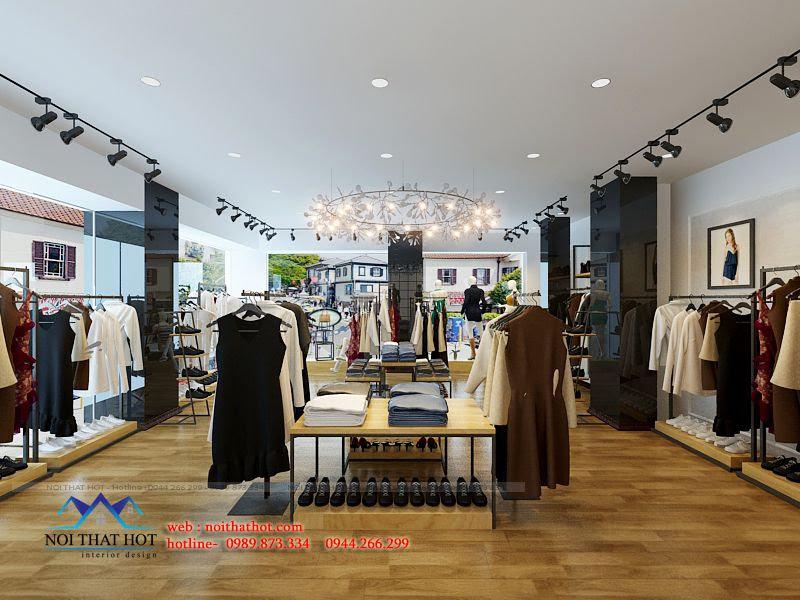 thiết kế shop thời trang phong cách