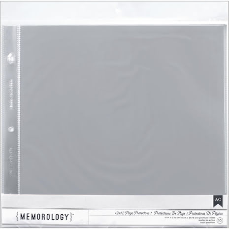 American Crafts Page Protectors Top Loading 12X12 10/Pkg For Postbound & D-Rin