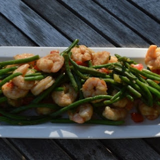 Shrimp With Garlic Green Beans