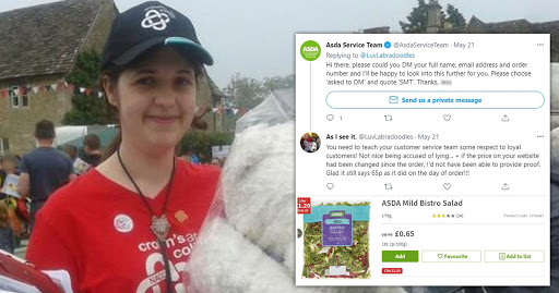 Woman vows to boycott Asda after being overcharged 15p for a salad