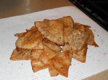 Seasoned Butter Pita Chips Recipe
