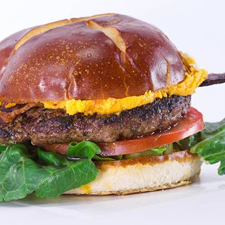 Wisconsin-Style Burgers with Worcestershire, B, L, T and Pub Cheese.
