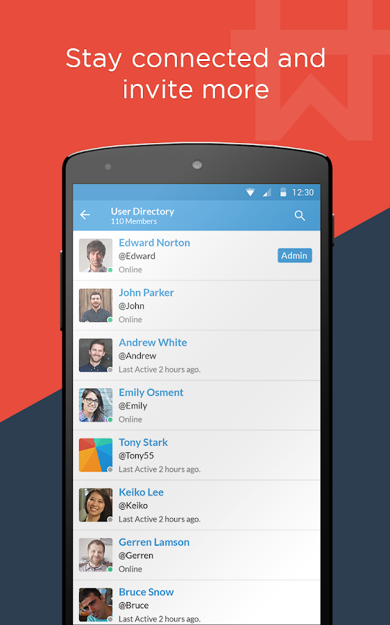 Workhive : Team chat app- screenshot