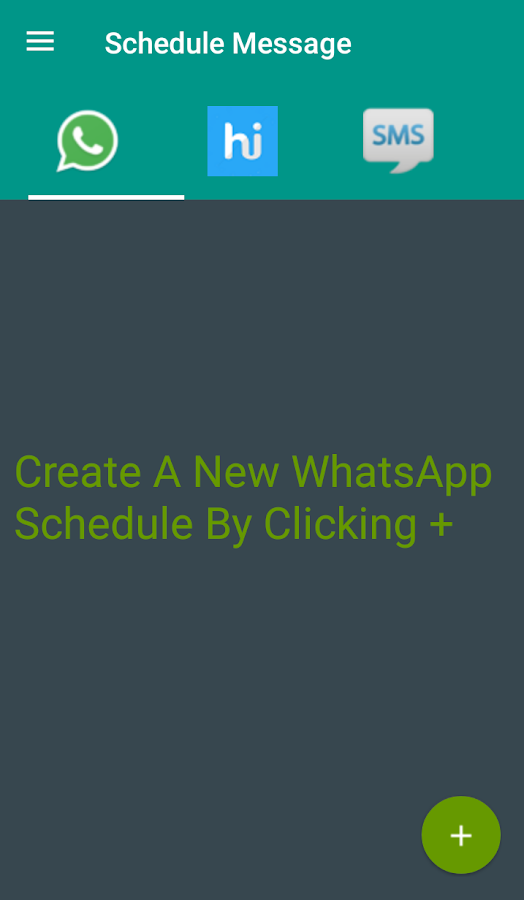 Schedule Message- screenshot