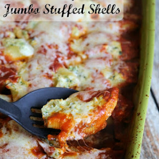 Stuffed Pasta Shells with Spinach and Broccoli.