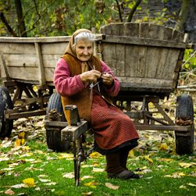 Winter is coming by Игор Ђорђевић - People Portraits of Women ( village, sokcs, stara planina, senior citizen, grandmother )