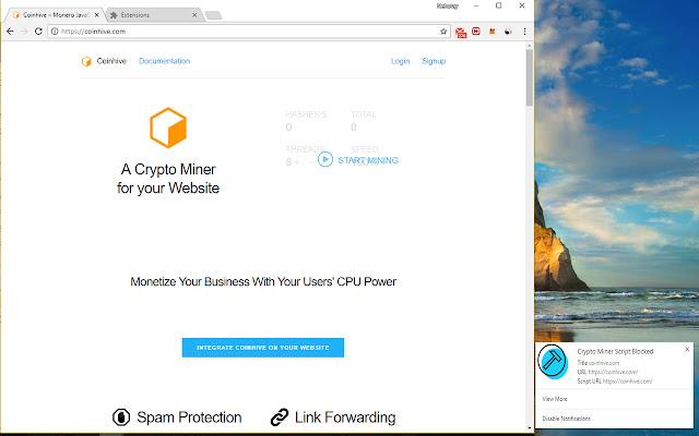 Protezione contro il malware Coinminer
