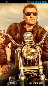 Biker Live Wallpaper screenshot 0