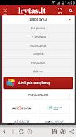 Screenshot of Lrytas.lt news