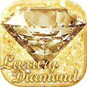 Luxury Diamond Launcher: Gold Glitter Deluxe Theme