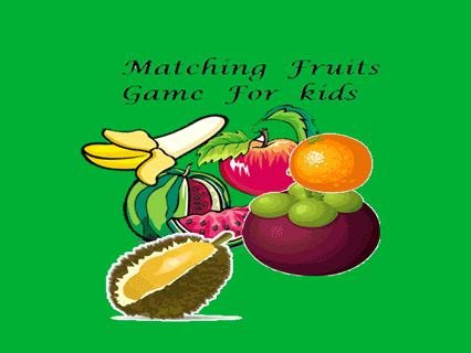 Matching Fruits Game For Kids