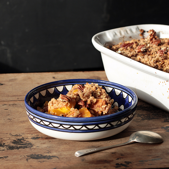 Pumpkin Spice Crisp (Crumble) with Gingerbread Pecan Topping Recipe ...