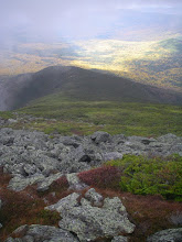 Photo: Dropping below the clouds on Jewell Ridge. There was even a bit of sunlight visible in the valley.