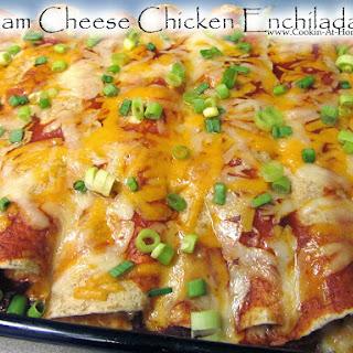 Cream Cheese Chicken Enchiladas.