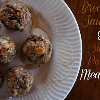 Breakfast Sausage & Sweet Potato Meatballs.