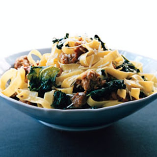 Fettuccine with Sausage and Kale.